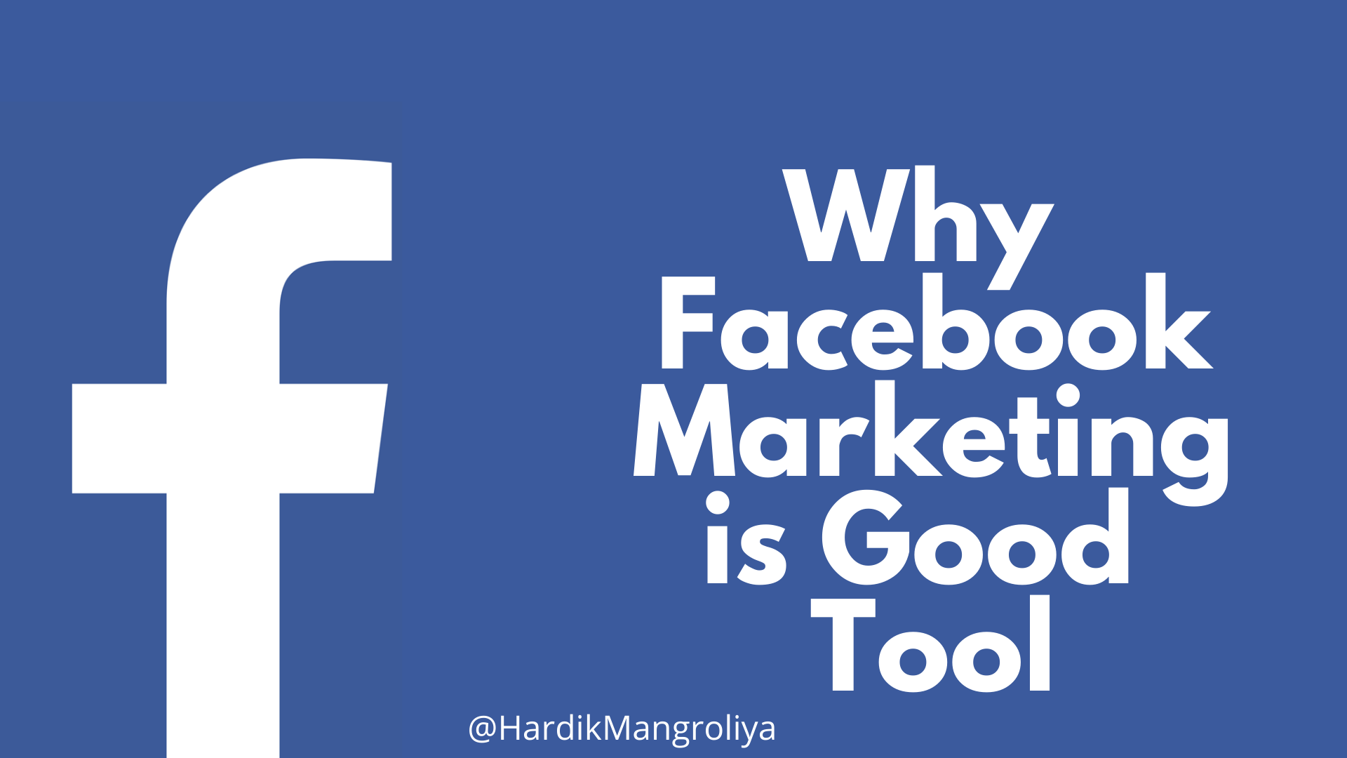 Why Facebook Marketing is Good Tool