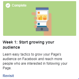 Start growing your audience on Faceook